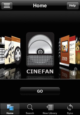 Cinefan on an iPhone